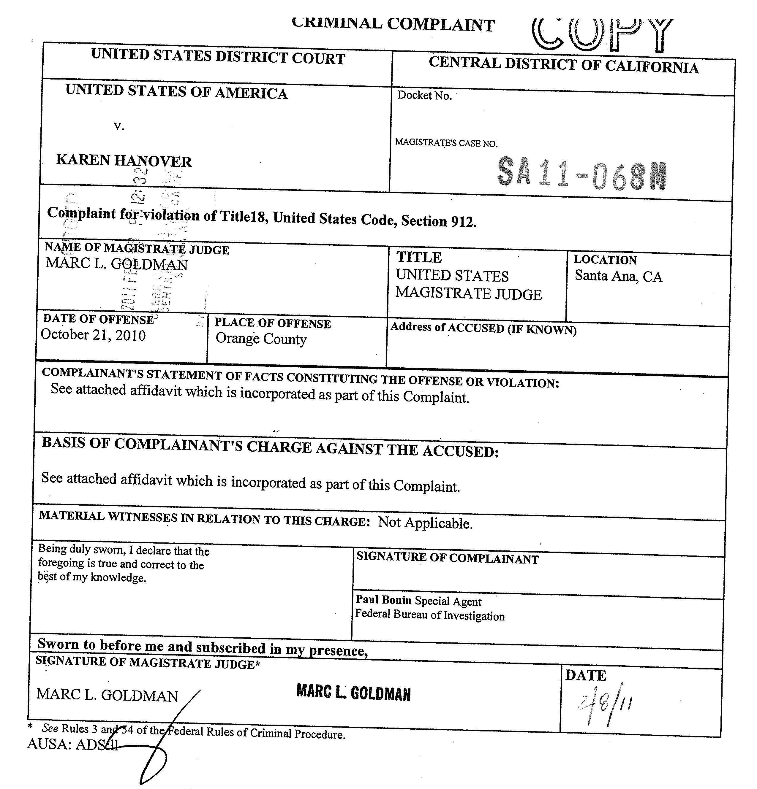karen-hanover-fbi-complaint